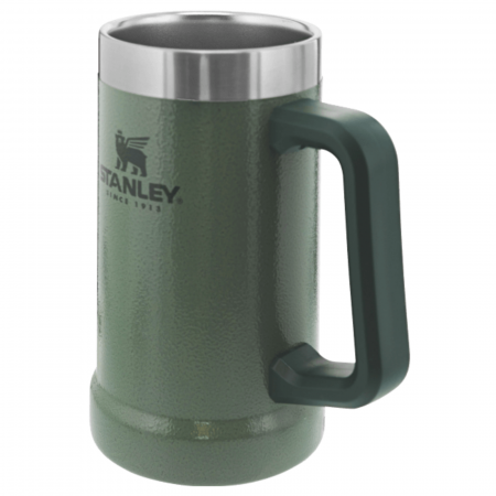 The Big Grip Beer Stein 0.70L | 24 OZ | Hammertone Green0