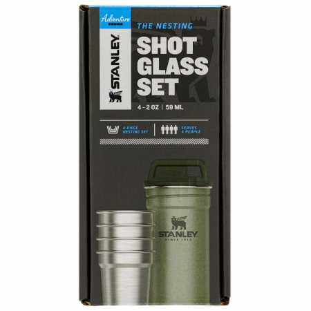The Nesting Shot Glass Set | Hammertone Green0