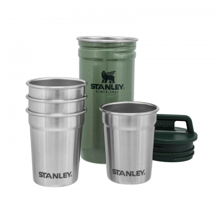 The Nesting Shot Glass Set | Hammertone Green2