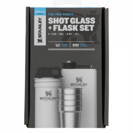 The Pre-Party Shotglass + Flask Set | Polar0