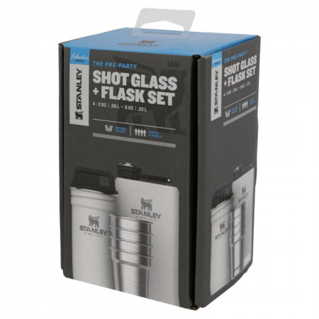 The Pre-Party Shotglass + Flask Set | Polar1