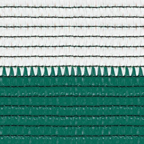 Plasa umbrire 1.5x10 m - verde + alb 80 g/mp 1