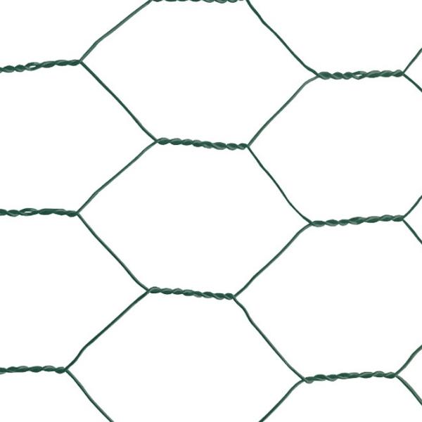 """Plasa rabitz zn plastifiata 1x10 m - 1""""(25 mm)x1 mm 1"""