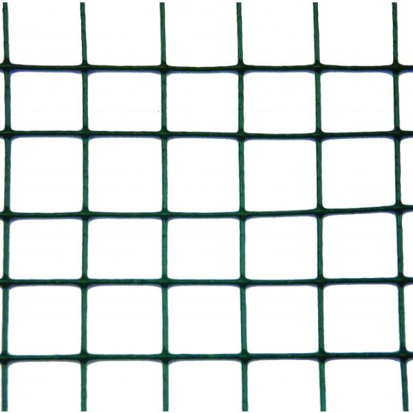 Plasa sarma Zn sudata plastifiata 0.5x10 m - 13x13x1 mm 1