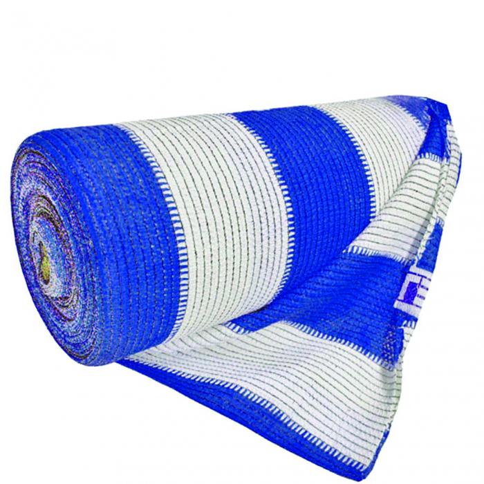 Plasa Umbrire Multicolor HDPE UV alb-albastru 95% mp, lungime 10m,latime 2 m [0]