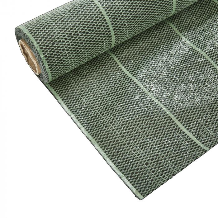 Folie profesionala antiburuieni 1,5 x 20m, 90 g,verde- negru [0]