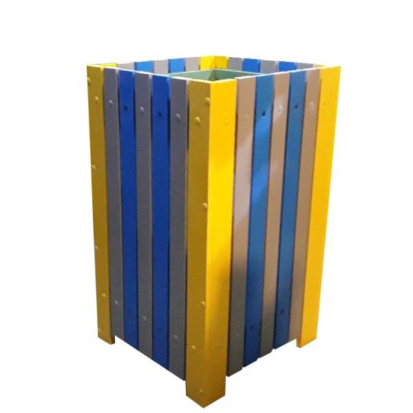 Coș de exterior pentru gunoi 60 L din pvc multicolor 1
