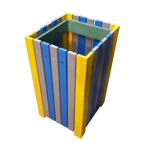 Coș de exterior pentru gunoi 60 L din pvc multicolor 0