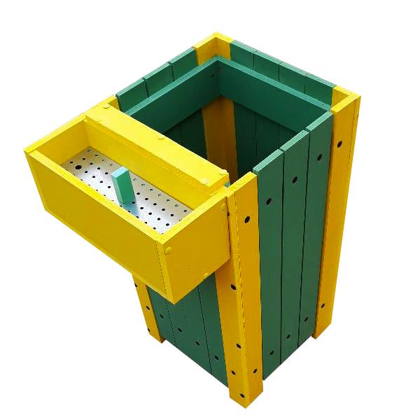 Coș pentru gunoi Helene de exterior cu scrumieră [0]