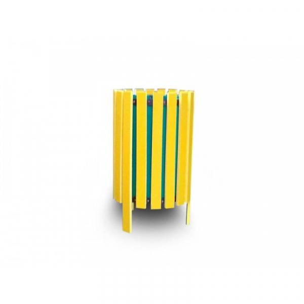 Coș de gunoi din rigle PVC 0