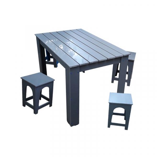 Masă cu scaune pentru gradină PVC 0