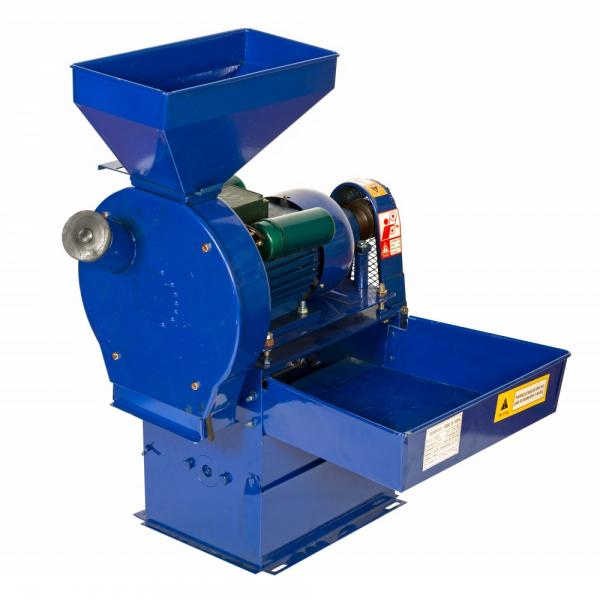 Moara electrica de cereale si stiuleti + batoza de porumb TEMP 2.5 KW, 3000 RPM, 500 KG/H 0