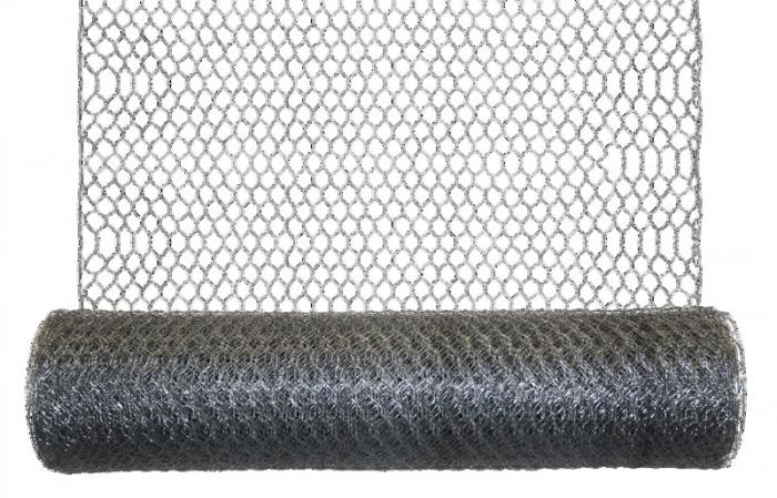 Plasa rabitz hexagonala 1 x 25 m,diametru sarma 0,8 mm [0]
