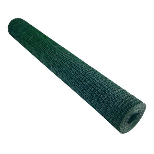 Plasa sarma Zn sudata plastifiata 1x10 m - 16x16x1.2 mm