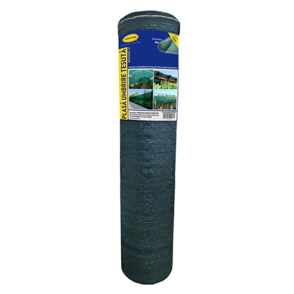 Plasa umbrire 1.7x10 m - verde - 80 g/mp 0