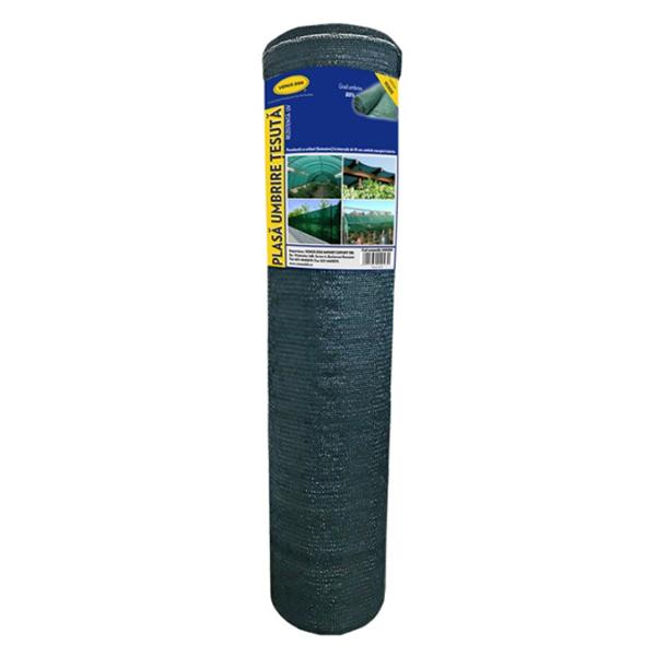 Plasa umbrire 1.7x25 m - verde - 80 g/mp 0