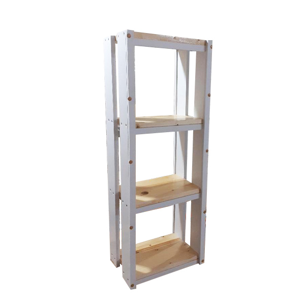 Raft organizator Helene din lemn cu structura din pvc extrudat 840x420x225 mm [0]