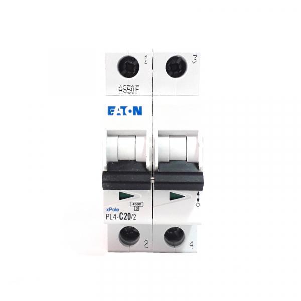 Siguranta automata EATON, 2P, 20A, 4.5KA, PL4-C20/2 1