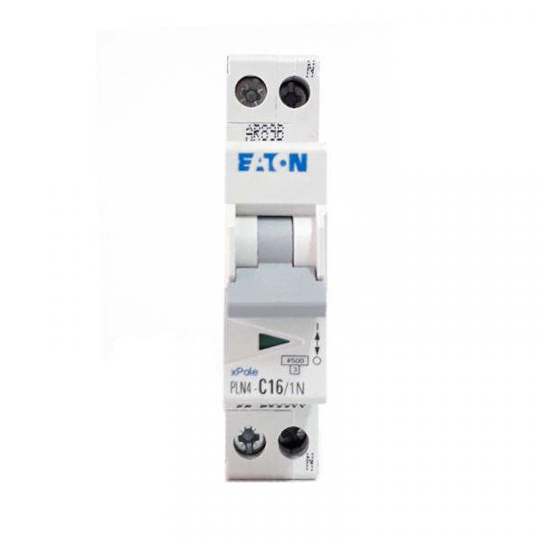 Siguranta automata EATON, 1P+N, 16A, 4.5KA, PLN4-C16/1N 1