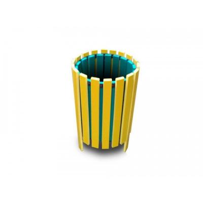 Coș de gunoi din rigle PVC1