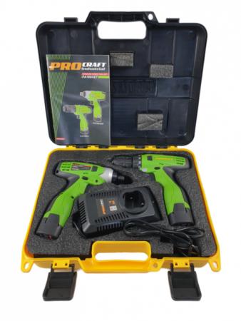 Set Autofiletanta + Pistol cheie impact cu acumulator Procraft Industrial PA168SET, 16.8V, 2Ah, mandrina 2-13mm [3]