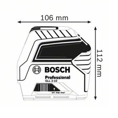 Nivelă laser cu linii GLL 2-10 Professional1