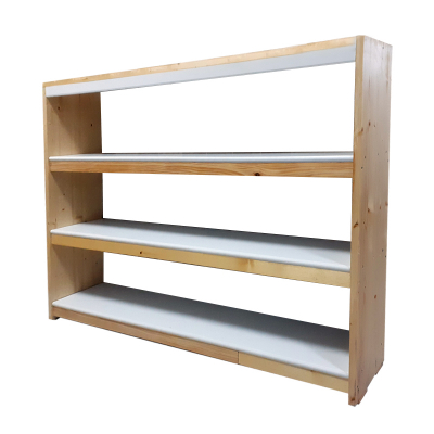 Raft din lemn de pin cu polite albe din pvc extrudat 800x870x200mm(Lxhxl)1