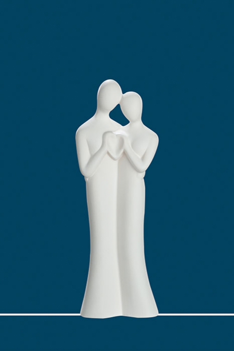 """Sculptura Ceramica """"CU DRAGOSTE"""" 0"""
