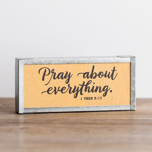 Pray about everyrthing [0]