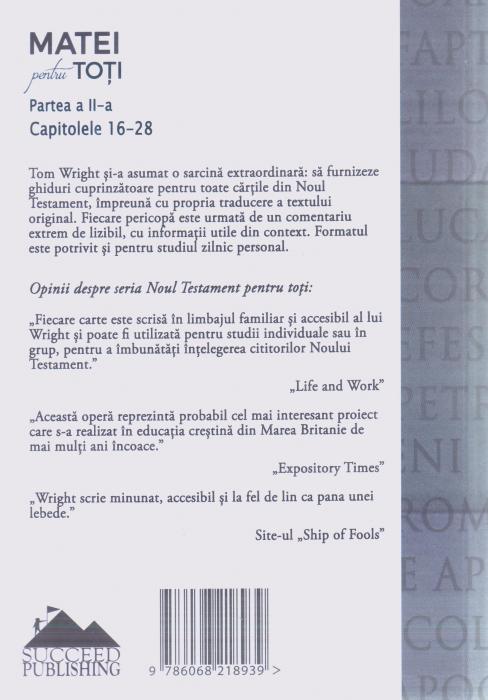 Matei pentru toti. Partea a II-a. Capitolele 16-28 1