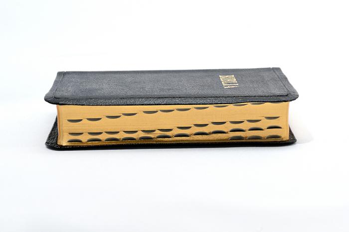 Biblie mica de lux, fara fermoar, cu margini aurii si index de cautare, NEAGRA