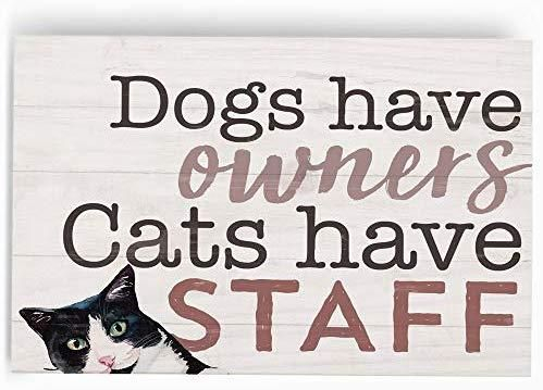 Dogs have owners cats have staff [1]