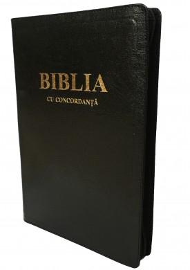 Biblie mare, coperta din piele cu fermoar, concordanta si explicatii 0