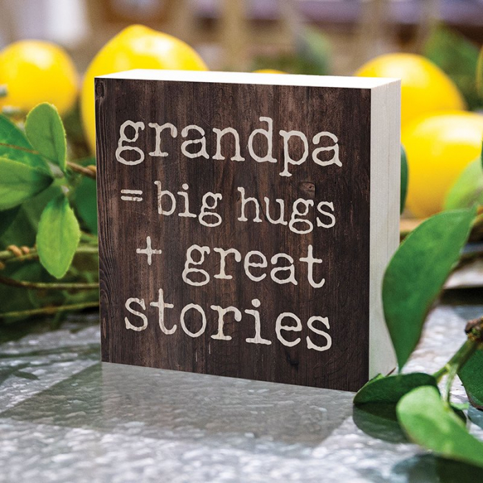 Grandpa = big hugs + great stories [0]