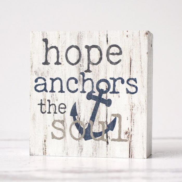 Hope anchors the soul [1]