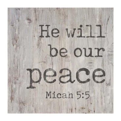 He will be our peace [0]
