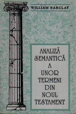 Analiza semantica a unor termeni din Noul Testament 0