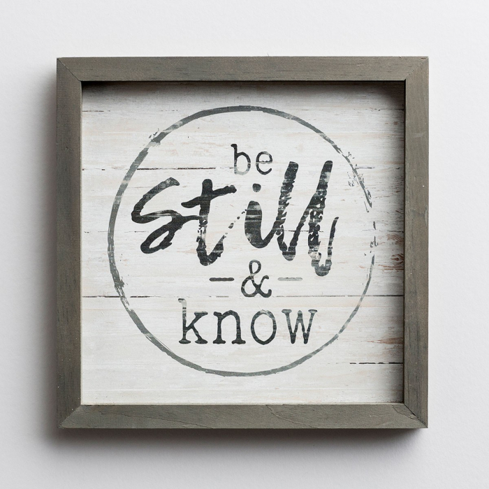 Be still and know [2]