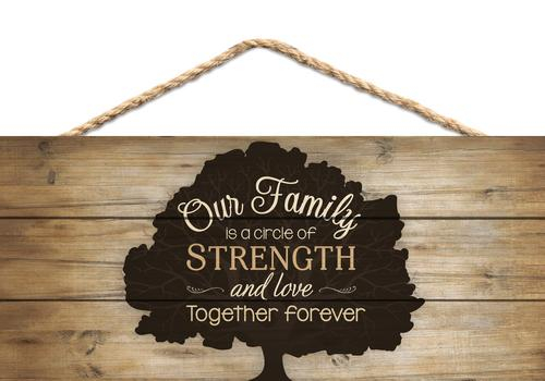 Our family is a circle of strength [0]