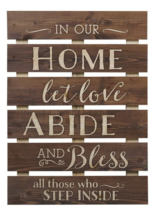 In our home let love abide [0]