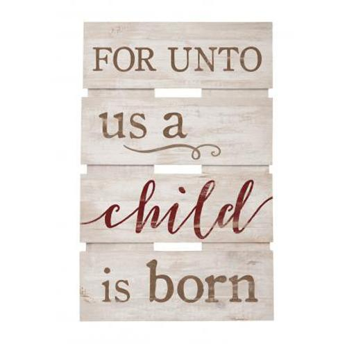 For unto us a Child is born [0]