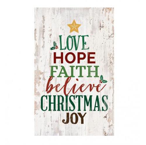 Love Hope Faith Believe Chirstmas Joy [0]