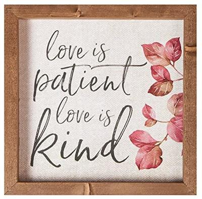 Love is patient love is kind [0]