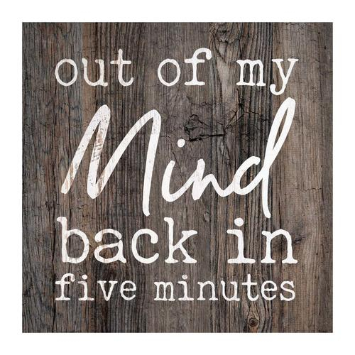 Out of my mind, back in 5 minutes [0]