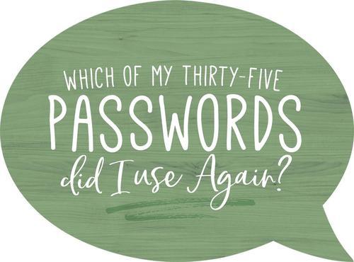 Passwords - Speech Bubble [0]