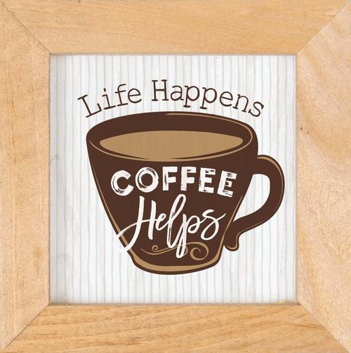 Life happens Coffee helps - Framed [0]