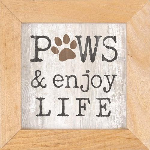 Paws and enjoy life - Framed [0]