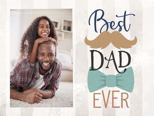 Best dad ever - Photo 5 x 7,5 cm [0]