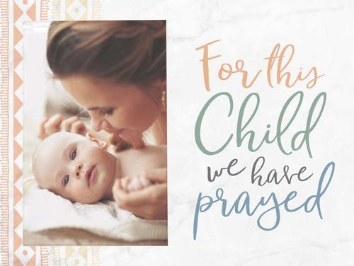 For this child prayed - Photo 5 x 7,5 cm [0]