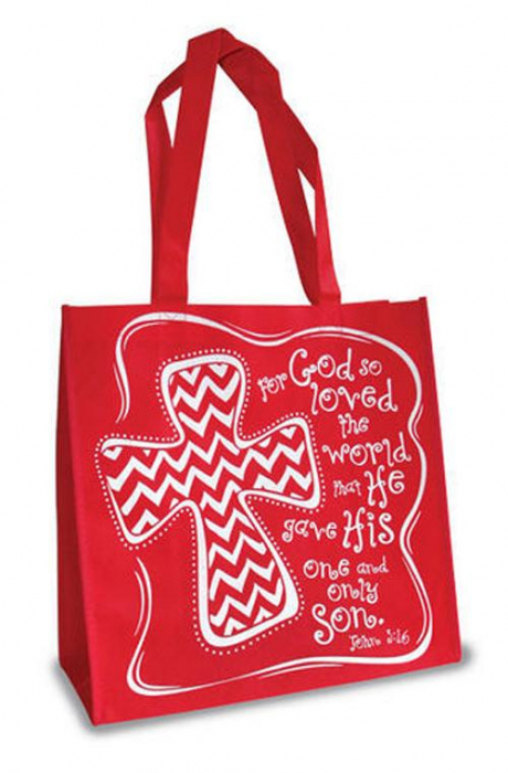John 3:16 - Red and white [0]
